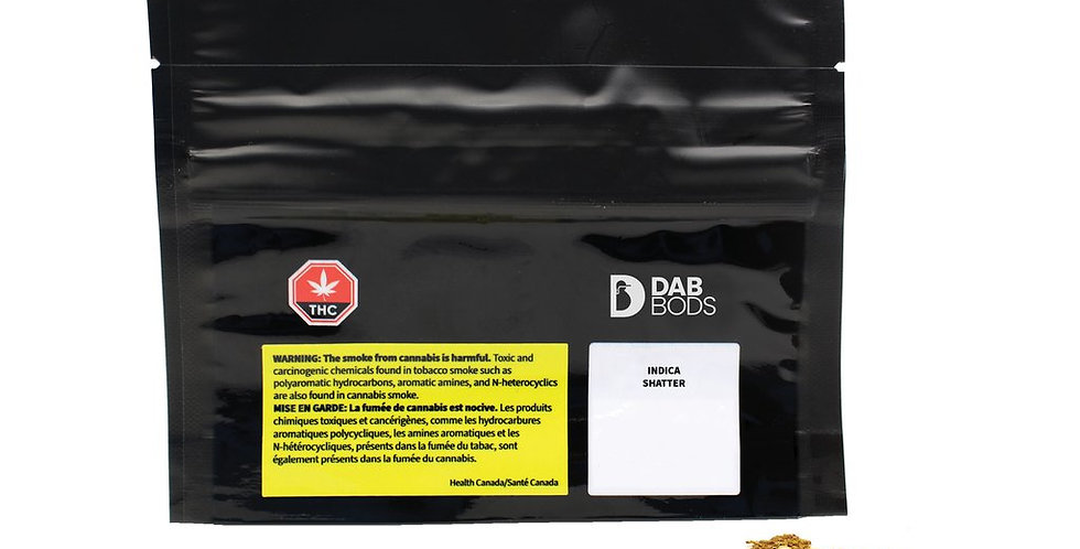 DAB BODS - Indica Shatter [0.5g]