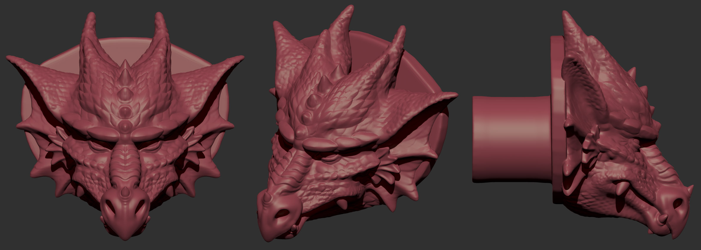 Dragon Head Doorknob Design