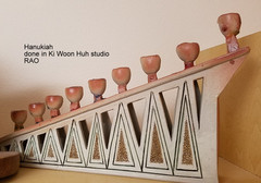 Ceramic Hanukiah