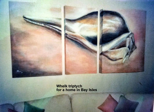 Triptych of whelk shell