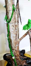 Midnight: Night-blooming Cereus on a Banyan tree