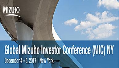 Global Mizuho Investor Conference (MIC) NY