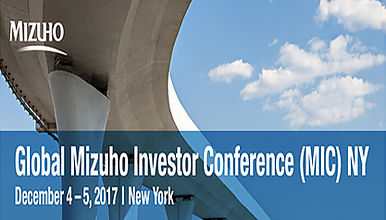 Global Mizuho Investor Conference (MIC) NY