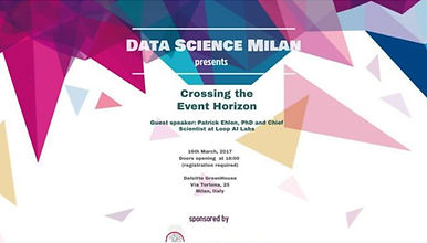 "Data Science Milan ""Crossing the Event Horizon"""