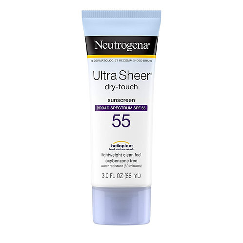 Neutrogena Ultra Sheer Dry-Touch Sunscreen Lotion, Broad Spectrum SPF 55