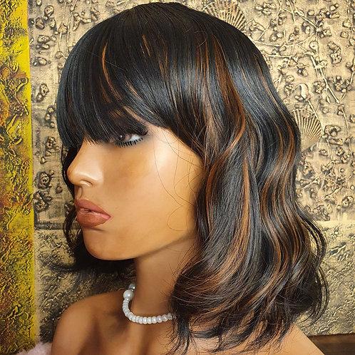 "14"" wavy highlight fringe wig nalela hair nairobi kenya"