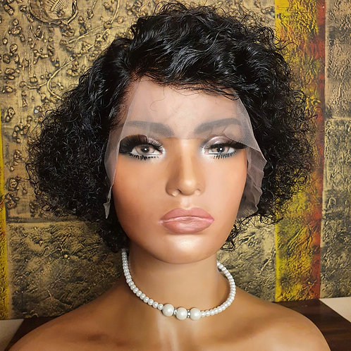 "8"" curly pixie lace front wig Nalela hair Nairobi Kenya"