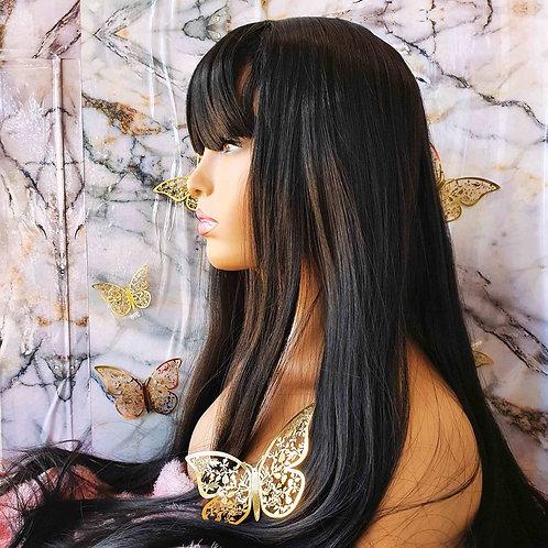 "30"" Straight Black Fringe wig nalela hair nairobi kenya"