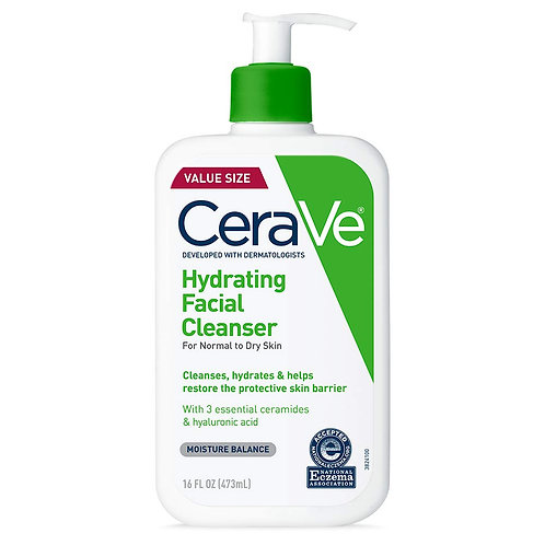 CeraVe Hydrating Facial Cleanser | Moisturizing Non-Foaming Face Wash with Hyalu
