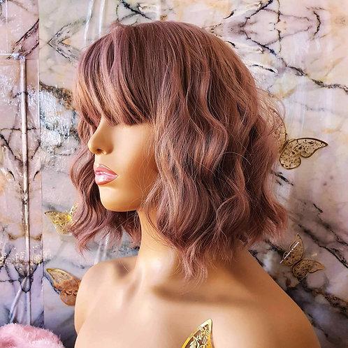 """12"""" Curly Pink Fringe"""