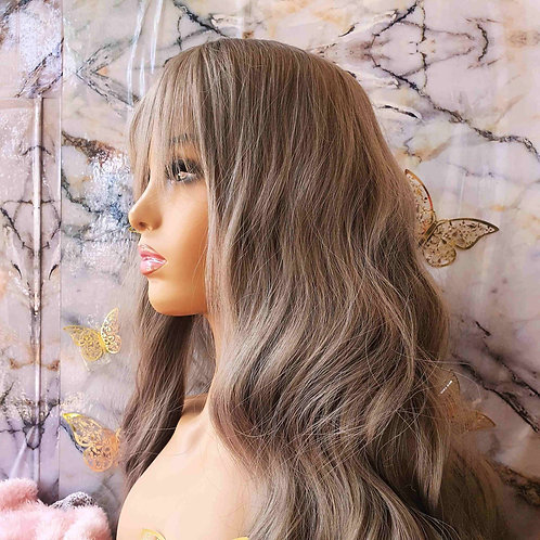 "30"" Curly Platinum Fringe"