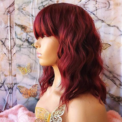 "14"" Curly Wine Red Fringe Wig nalela hair nairobi kenya"