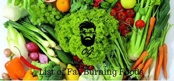 List of fat burning foods