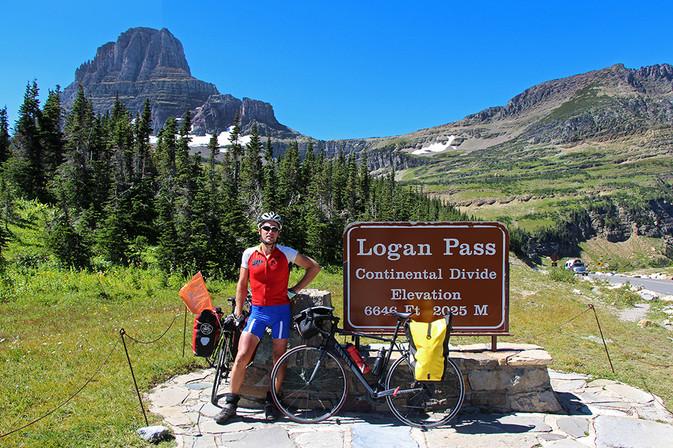 Logan Pass Glaciar Nationalpark