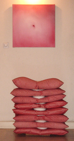Painting by Merav Shin. Ben Alon