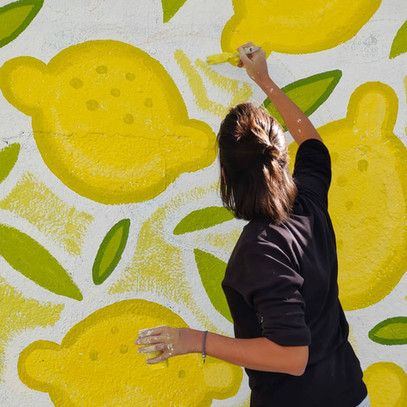 Lemon Attack Mural