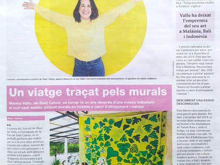 El periódico el 9Nou del Vallès Oriental entrevista por primera vez a MarinaVallo
