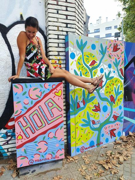 Hola Barcelona Mural