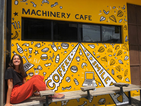 Machinery Cafe Bali Mural