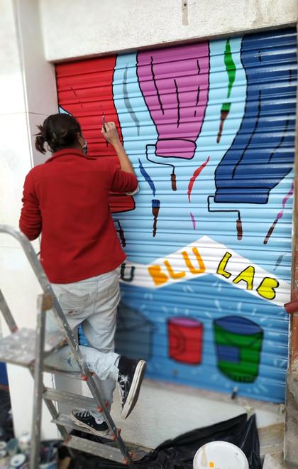 Blublulab persianas Mural