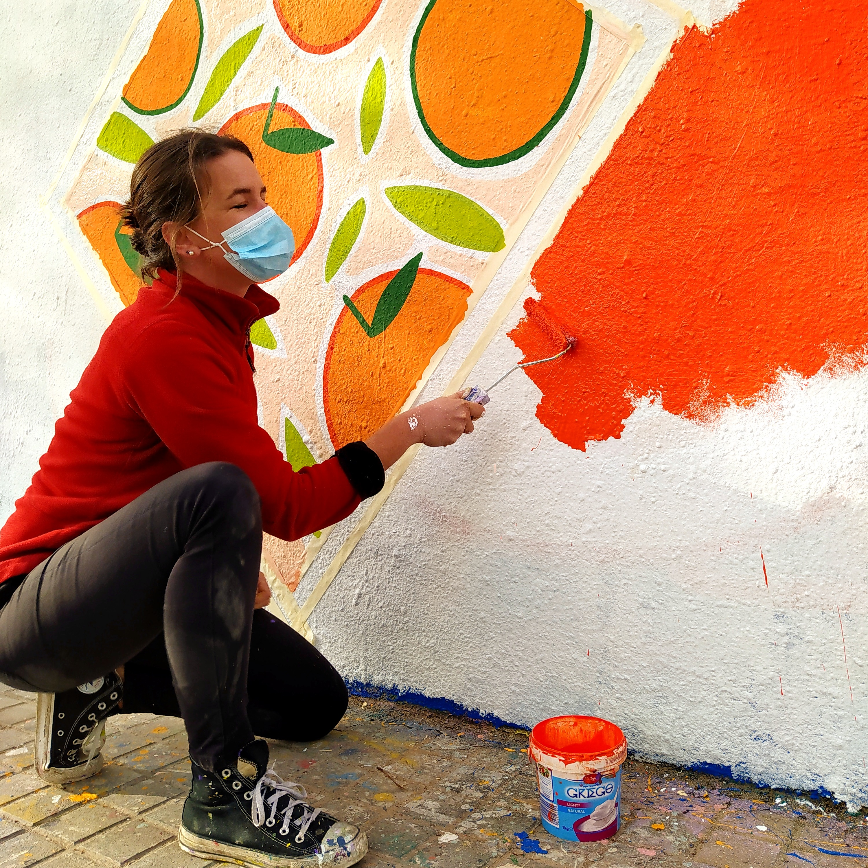 Oranges Power Mural
