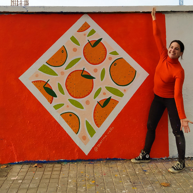 Oranges Power Mural