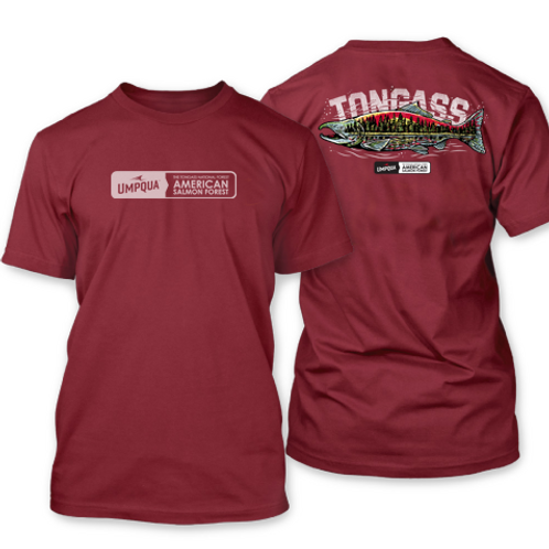 Tongass Fish Forest Tee Red