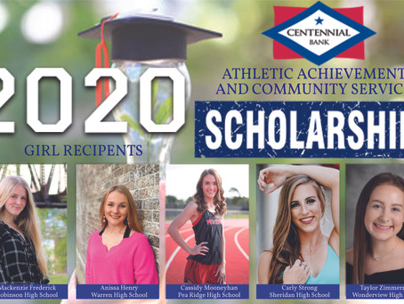 2020 Centennial Bank Athletic Achievement and Community Service Scholarship Winners