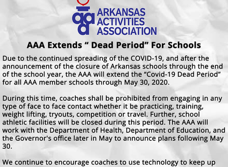 """AAA Extends """" Covid-19 Dead Period"""" For Schools"""