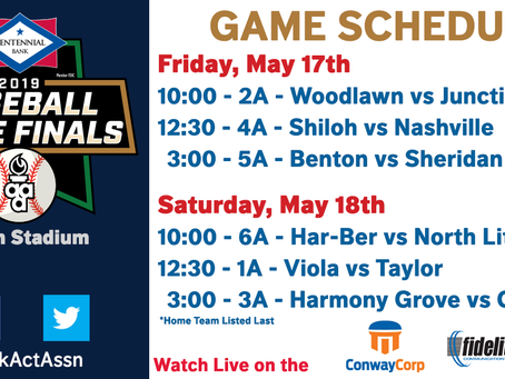 2019 Baseball, Softball, Soccer Finals Schedule!