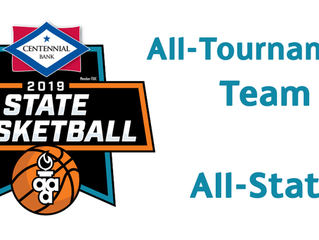 2018-2019 Basektball All-State/All-Tournamen​​t Team