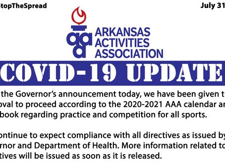 Covid-19 Update | Return to the AAA Calendar