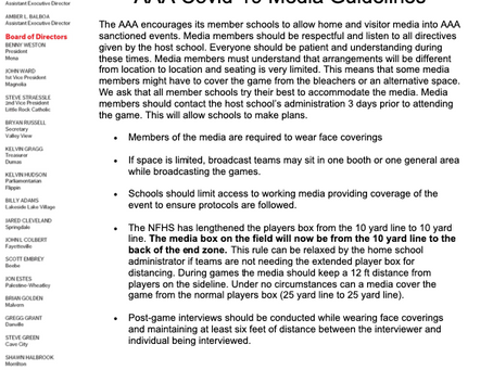 AAA Covid-19 Media Guidelines