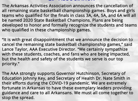 2020 Basketball Finals Cancelled. Both Teams Crowned Champions!