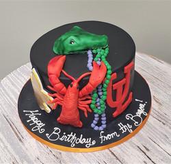 Remember Louisiana Birthday Cake
