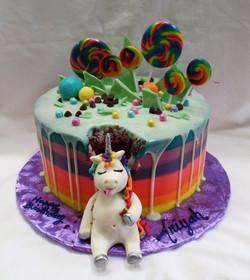 Fat Unicorn Birthday Cake