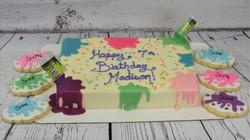 Slime Birthday Cake/Cookies
