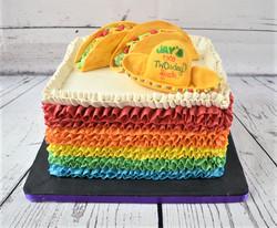 Taco Twosday Birthday Cake