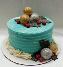 Holiday Bridal Shower Cake