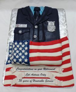 Fire Department Retirement Cake