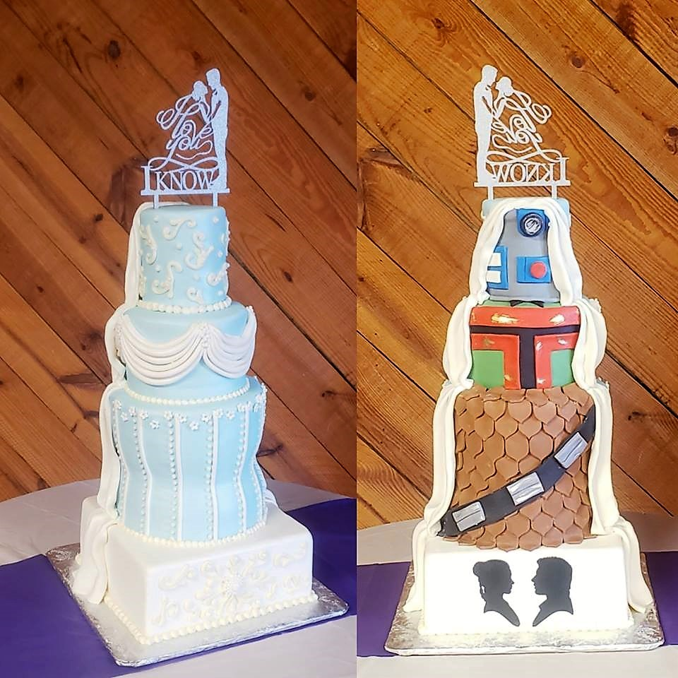 Star Wars Surprise Wedding Cake