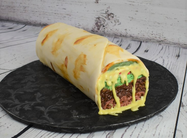 Burrito Birthday Cake