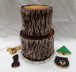 Woodland Birthday Cake & Cookies