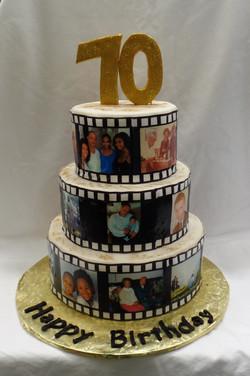 Picture Film Birthday Cake