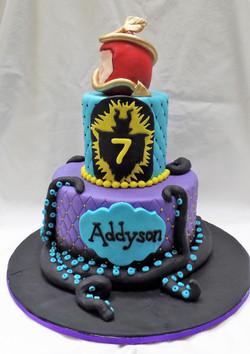Maleficent Birthday Cake