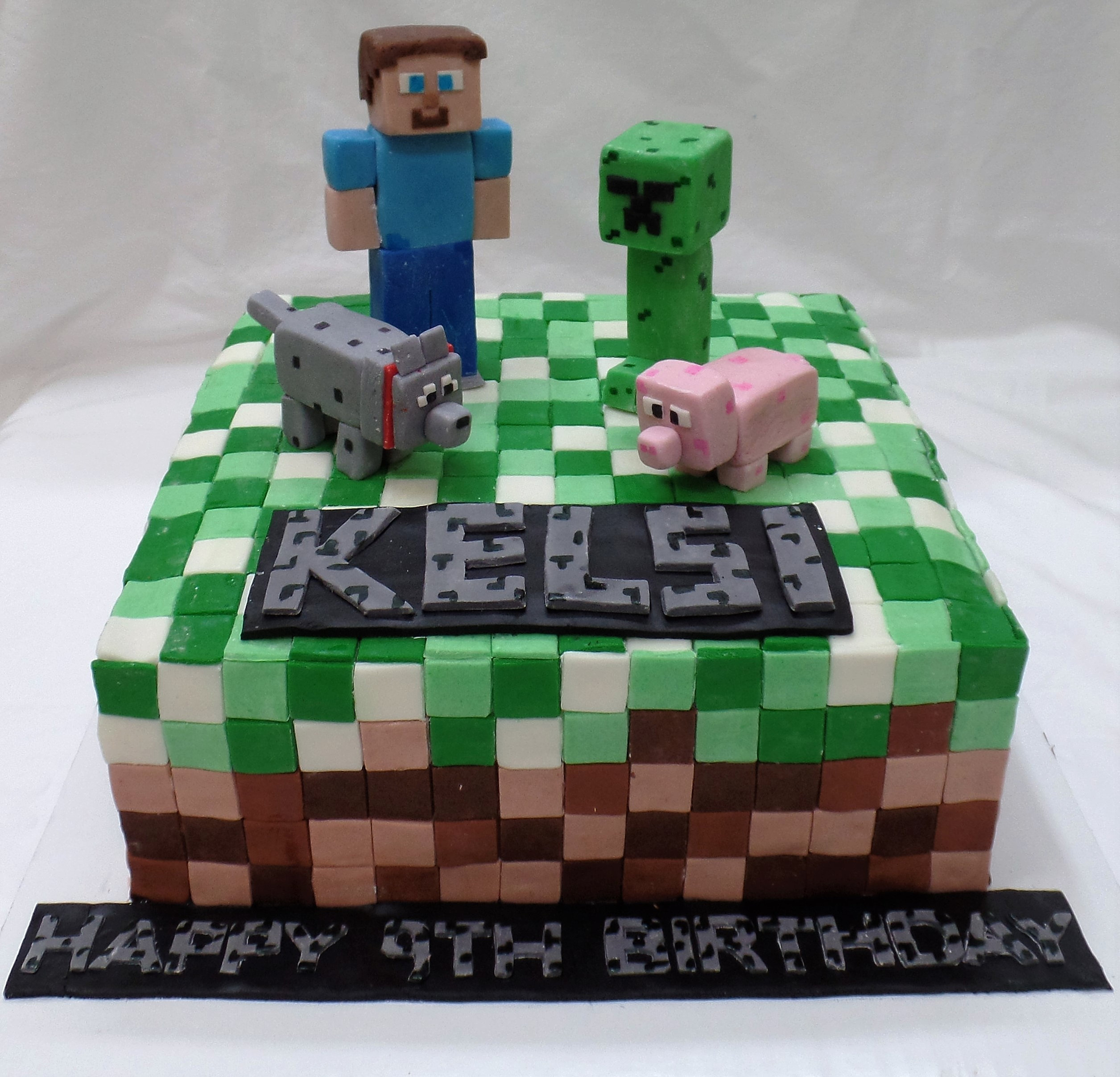 minecraft birthday cake the mad batter bakery minecraft birthday cake 5906