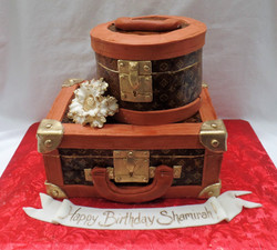 LV Suitcase Birthday Cake