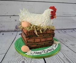 Hen Birthday Cake