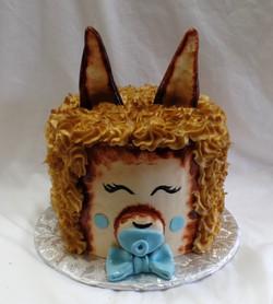 Alpaca Baby Shower Cake