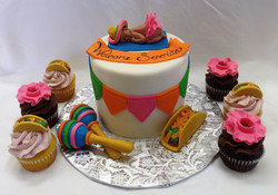 Tacos and Tutus Baby Shower Cake